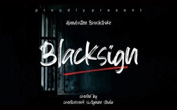 Blacksign Brush Font