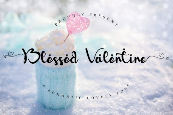 Blessed Valentine Calligraphy Font