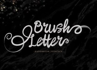 Brush Letter Brush Font