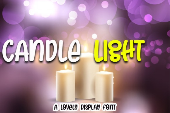 Candle Light Display Font