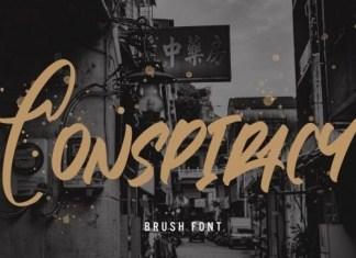 Conspiracy Brush Font