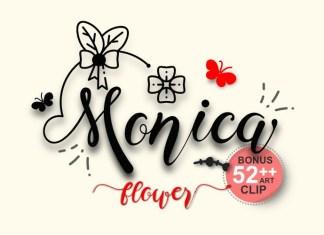 Monica Flower Calligraphy Font