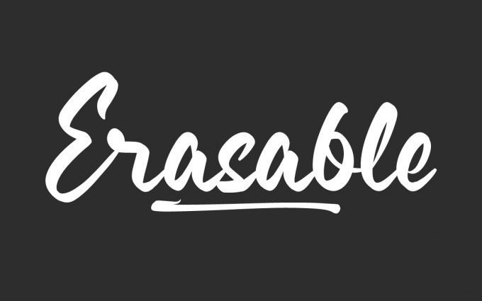 Erasable Script Font