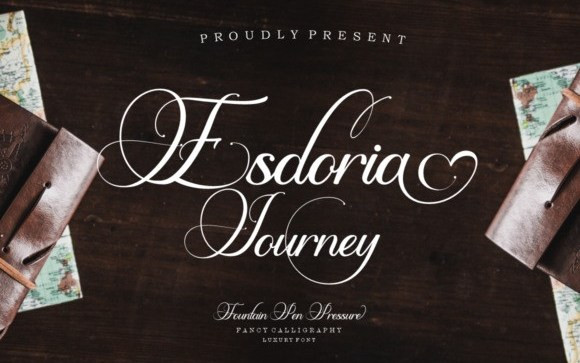 Esdoria Journey Calligraphy Font