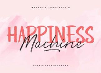 Happiness Machine Brush Font Duo