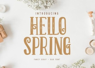 Hello Spring Display Font
