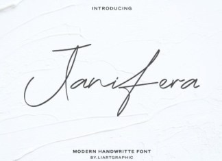 Janifera Handwritten Font