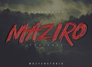 Maziro Brush Font