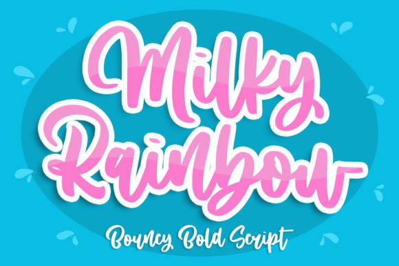 Milky Rainbow Script Font