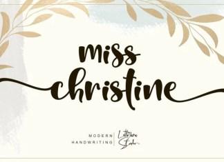 Miss Christine Script Font