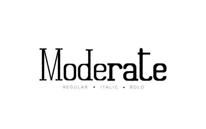 Moderate Display Font