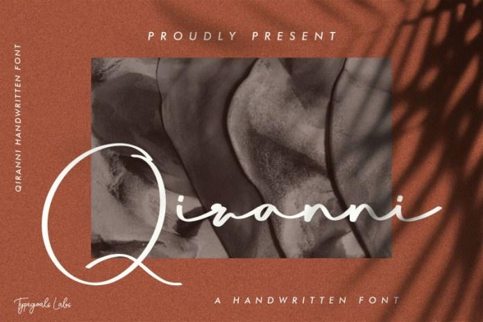 Qiranni Handwritten Font