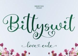 Bittyswit Calligraphy Font