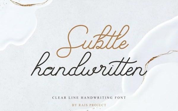 Subtle Handwritten Font
