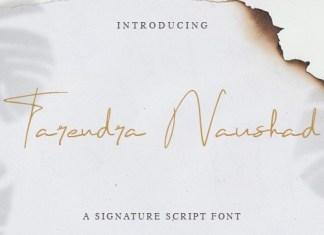 Tarendra Naushad Handwritten Font