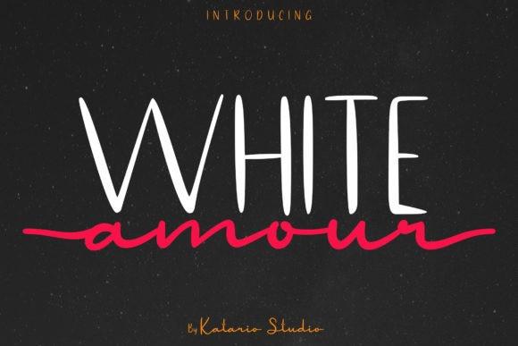White Amour Handwritten Font Duo
