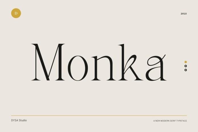 Monka Serif Font