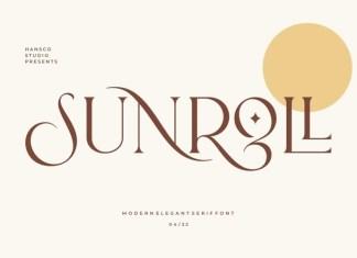 Sunroll Serif Font