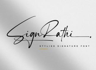 SignRathi Handwritten Font