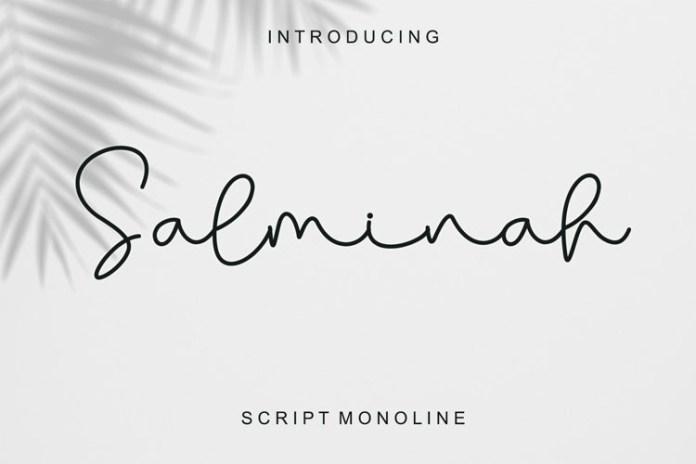 Salminah Handwritten Font