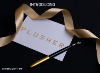 PLUSHER Sans Serif Font