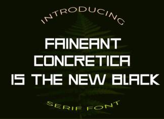 Faineant Sans Serif Font