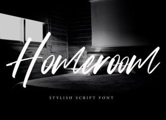 Homeroom Script Font