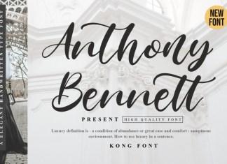 Anthony Bennett Script Font
