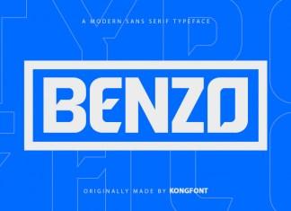 Benzo Display Font