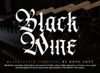 Black Wine Blackletter Font