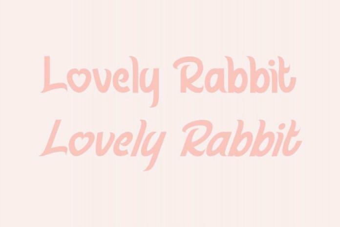 Lovely Rabbit Display Font