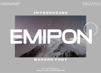 Emipon Sans Serif Font
