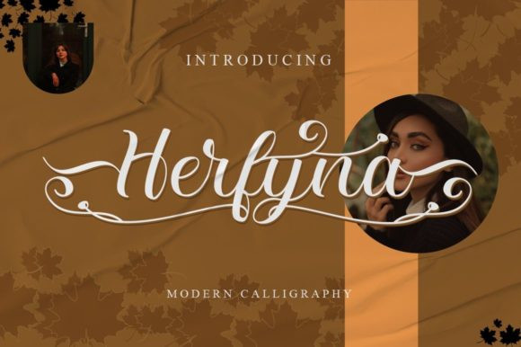 Herfyna Calligraphy Font