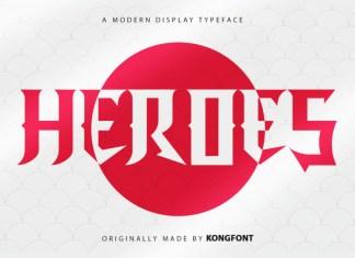 Heroes Display Font