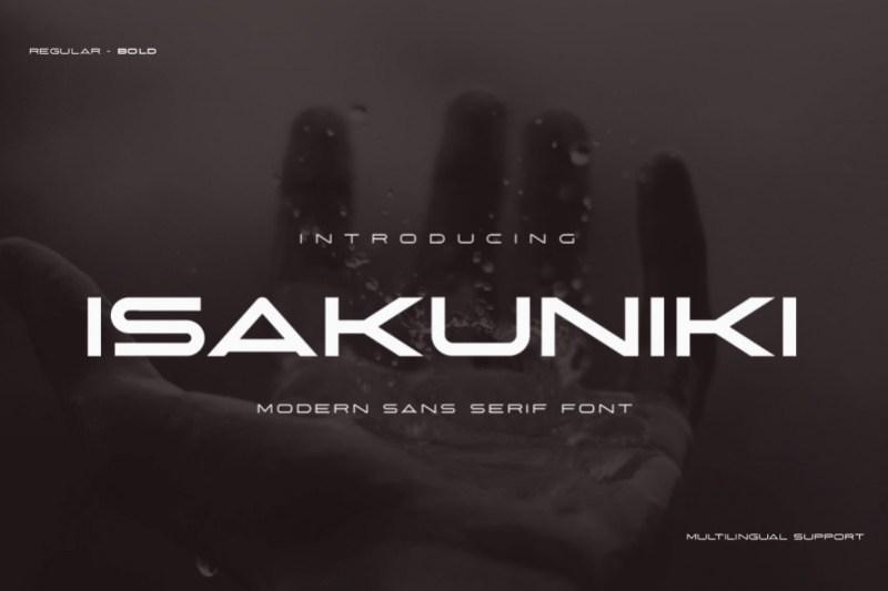 ISAKUNIKI Display Font