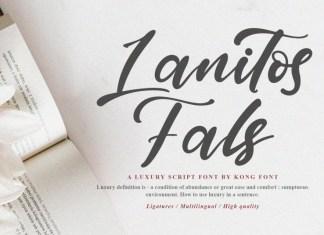 Lanitos Falls Script Font
