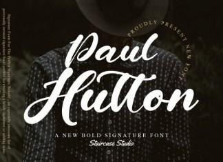 Paul Hutton Script Font