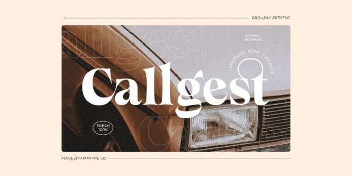 Callgest Serif Font