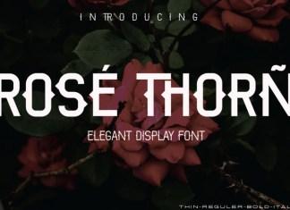 ROSE THORN Display Font