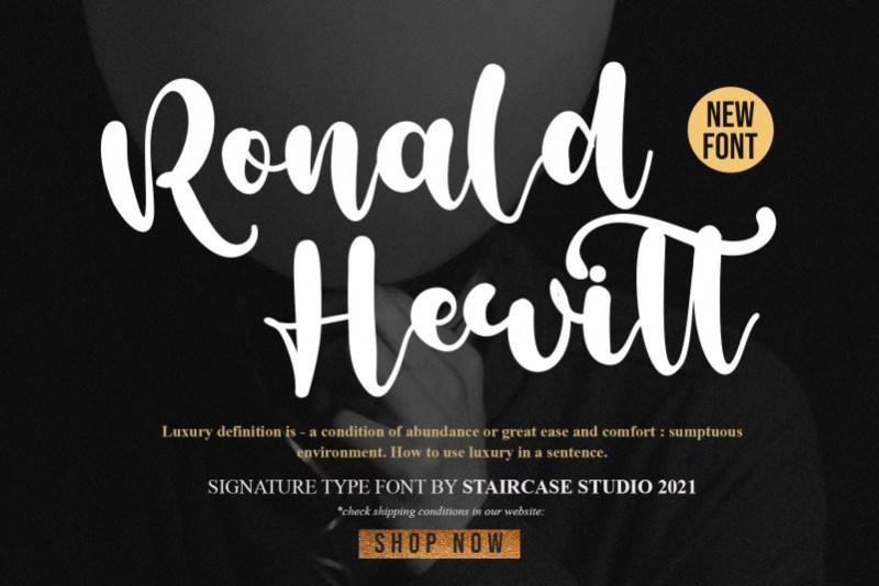Ronald Hewitt Script Font