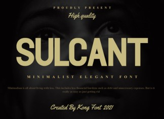 Sulcant Sans Serif Font