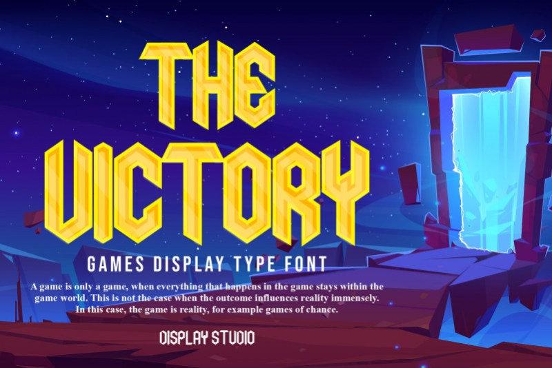 The Victory Display Font