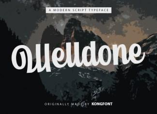 Welldone Script Font