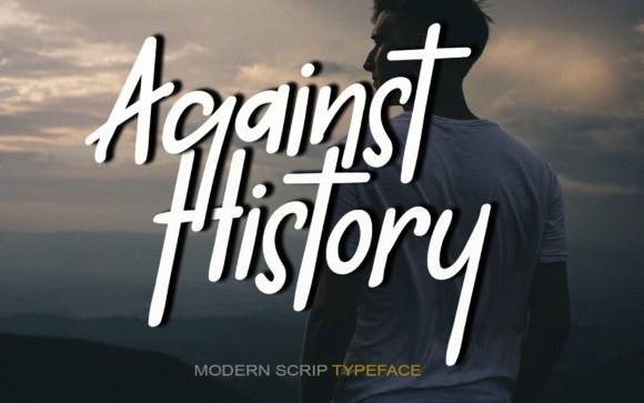 Against History Handwritten Font