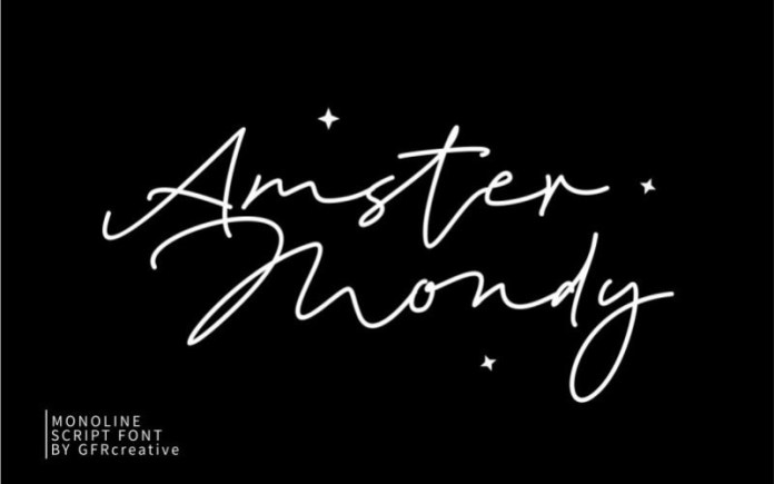 Amster Mondy Handwritten Font