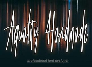 Aquality Handmade Script Font