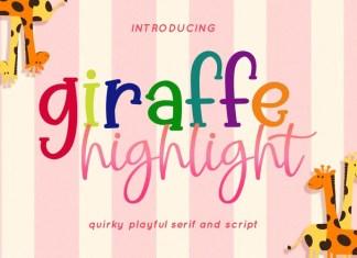 Giraffe Highlight Script Font
