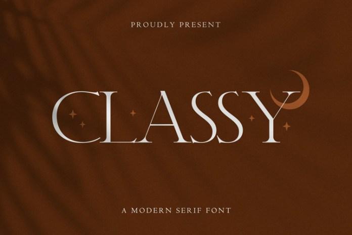 Classy Serif Font