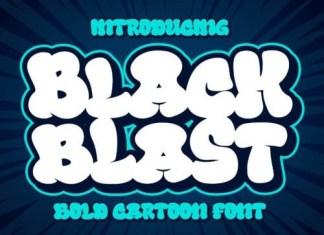 Black Blast Display Font
