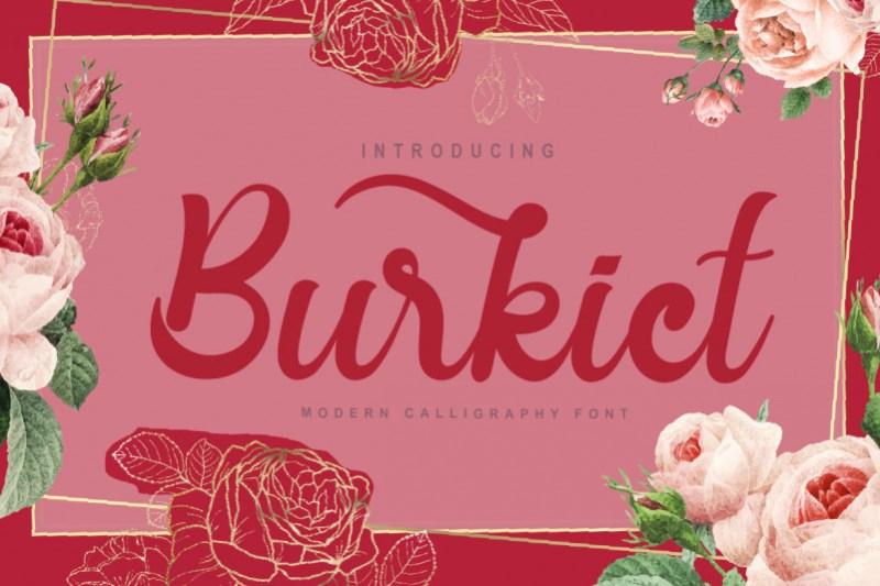 Burkict Script Font